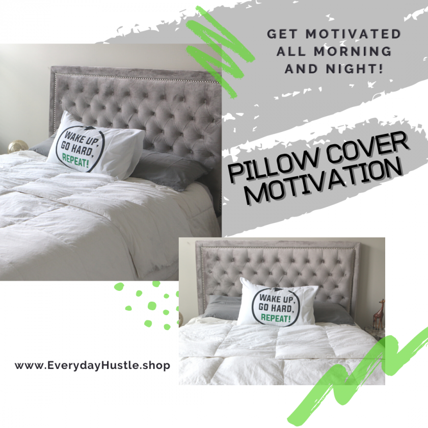 Motivation Pillow Cover: repeat