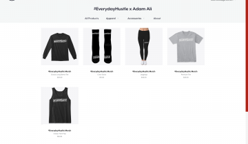 #EverydayHustle x Adam Ali Merch